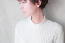 ジェンダーレスショート × 透明感ピンクアッシュ